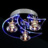 LightInTheBox Chandelier Modern LED Crystal Living 3 Lights, Modern Home Ceiling Light Fixture Flush Mount, Pendant Light Chandeliers Lighting