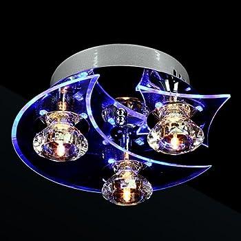 Mini Modern Crystal Chandelier Square Ceiling Lamp for Bedroom ...