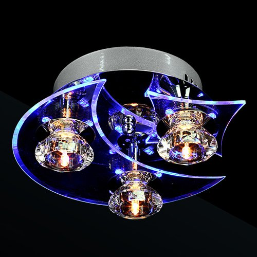Lightinthebox Chandelier Modern LED Crystal Living 3 Lights 20W Ceiling Light Pendant 3 Lamp Fixture Lighting Chandelier