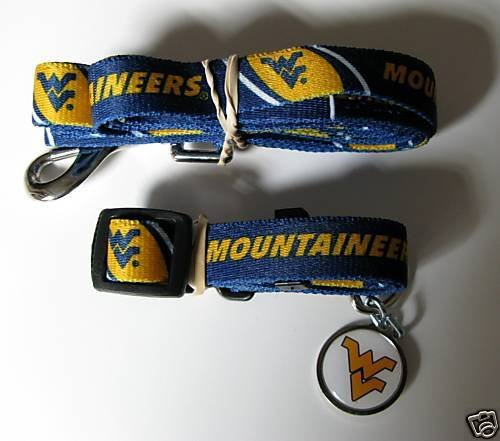 Hunter West Virginia University Pet Combo Set (Collar, Lead, ID Tag), X-Small