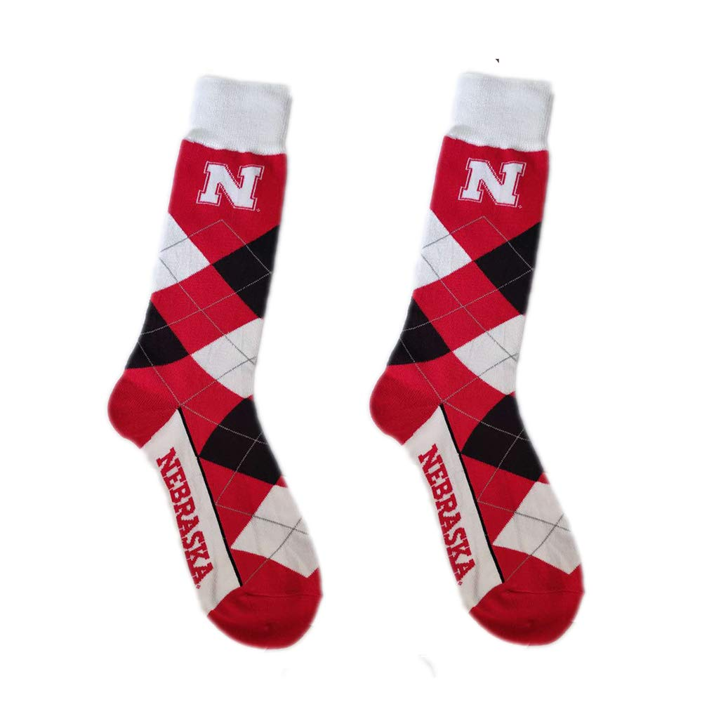 Gloral HIF Winter Warm Unisex Sports Argyle Athletic Crew Socks for Fans One Size Fits Most