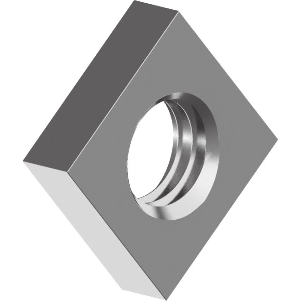 200 Stü ck Vierkantmuttern DIN 562 - Edelstahl A2 niedrige Form M 6 svh24