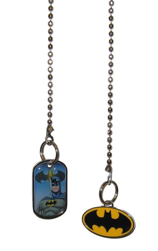 DC comics SUPER HERO superhero character Ceiling FAN PULL light chain (Batman Portrait & Bat Signal Logo Set)