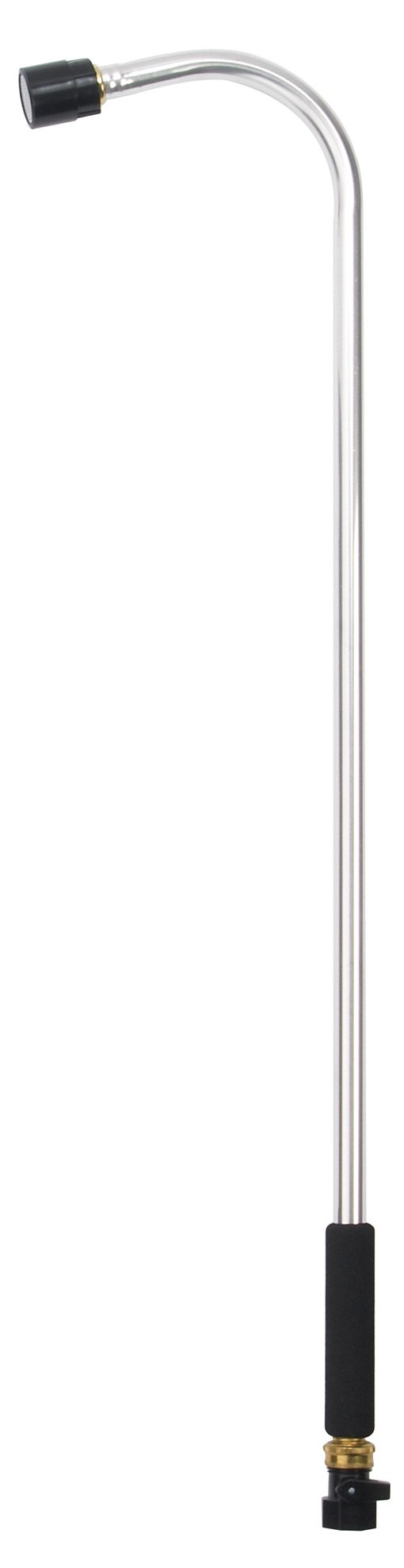 Dramm Classic Hanging Basket Watering Wand 36-Inch Length With 8-Inch Foam Grip - Silver 12358