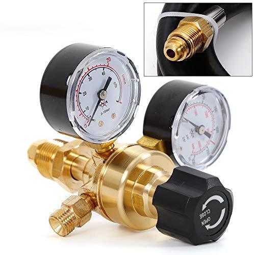 Argon or Argon CO2 Mix Regulator Mig Tig Welding Accessory CGA 580 with 6 foot Inert Gas Hose, Flow Meter Gauge Brass Pressure Regulator (Best Gas Mix For Mig Welding)