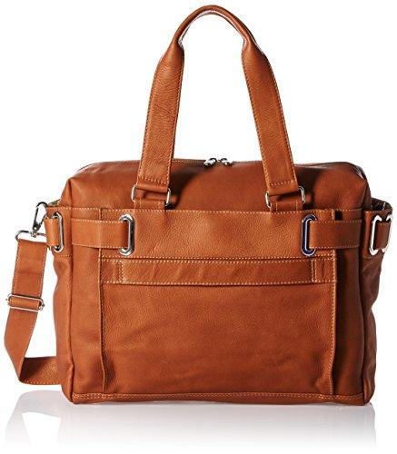 Piel Leather Ladies Slim Carry-on, Saddle -
