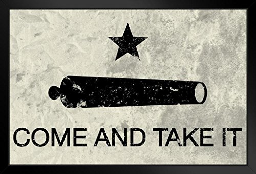 Come and Take It Flag Framed Poster 14x20 inch