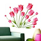 Decals Design 'Tulips Bouquet' Wall Sticker (PVC Vinyl, 50 cm x 70 cm)