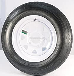 Kenda Trailer Tire/Wheel Assembly - 6-Ply Rated/Load Range C - 5.30-12 - 5 Hole Rim 30820