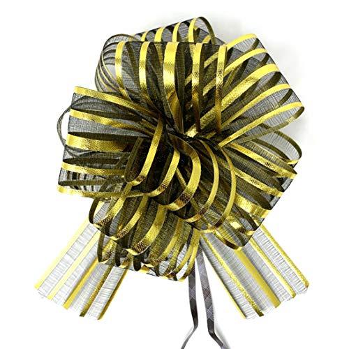 Allgala 12-pc 6″ Large Everyday Pull Bows-Black Gold-GP92022