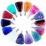 20pcs Flat Ladder Shape Healing Chakra Beads Crystal Quartz DIY Stone Random Color Gemstone Pendants for Necklace Earring Jewelry Making