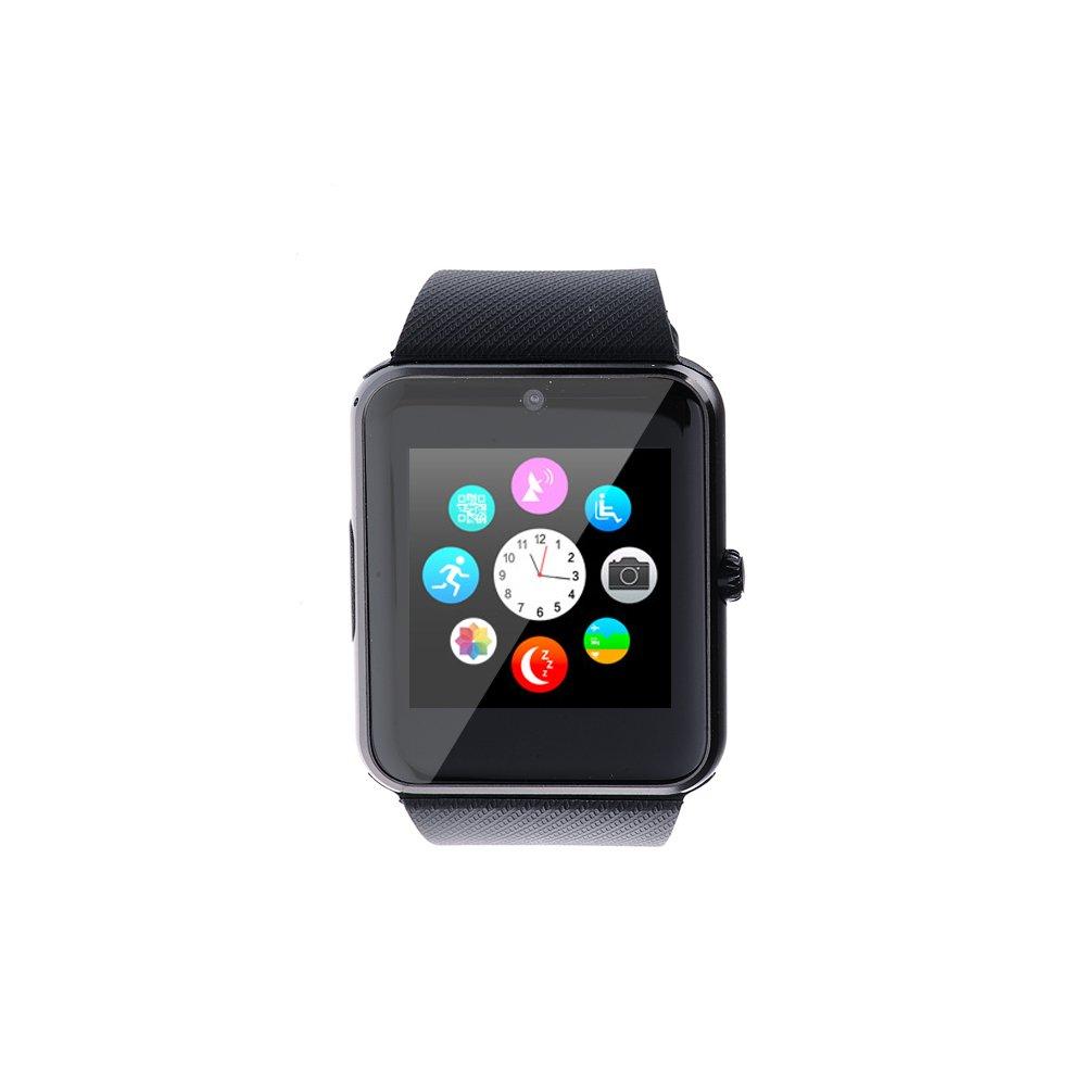Levipower®Smartwatch con Bluetooth GT08 G10A NFC Con Pantalla Cámara Táctil para IOS Android Soporta SMI/TF (Negro)