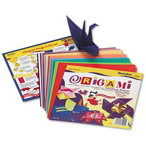 Pacon : Origami Paper, Instructions Incl, Ltwt, 9 x 9, Bright Colors, 40 Sheets -:- Sold as 2 Packs of - 40 - / - Total of 80 Each