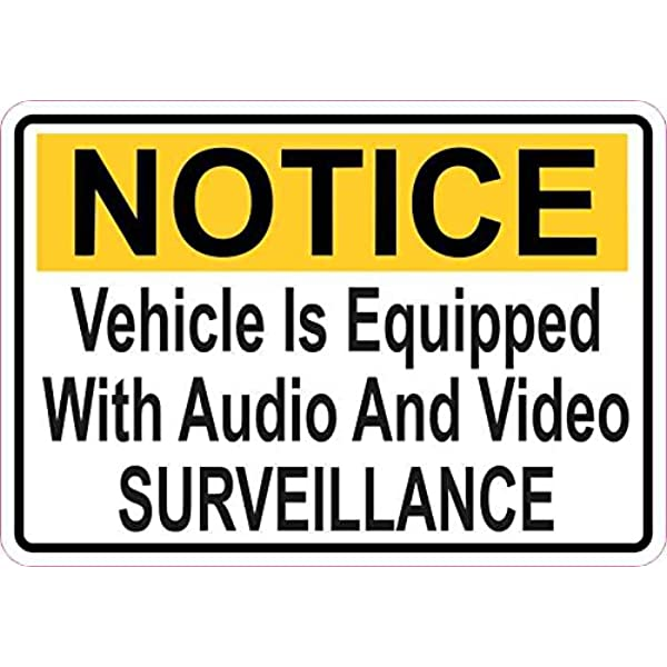VEHICLE FITTED WITH GPS TRACKING DEVICE POLICE STICKER WARNING 140 x 70mm