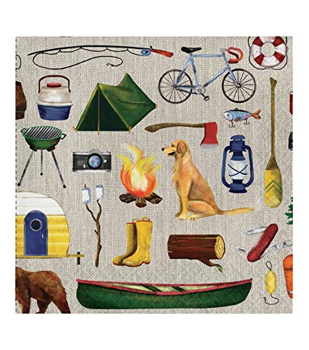- Lake Life Camping Themed 20 Pack Summertime Entertaining Paper Cocktail Beverage Dinner Party Guest Napkins