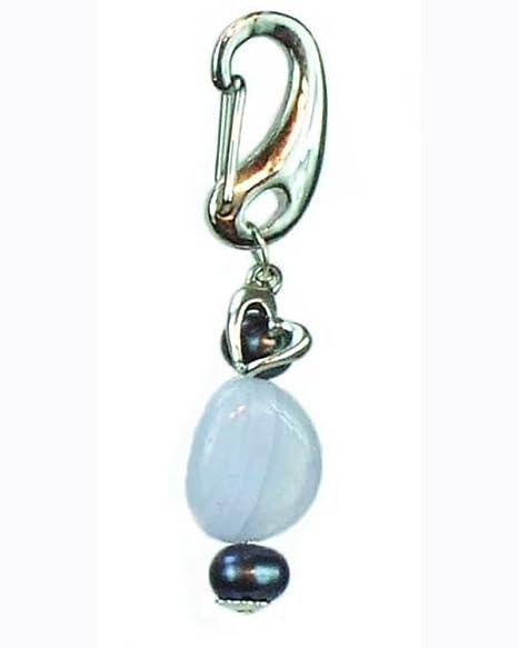 Amazon.com: Collar de perro encanto joyas, azul calcedonia ...
