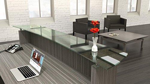 Receptionist Station Office Room Furniture Textured Driftwood, 72 Width /& 1 File Cabinet Salon Table Modern Reception Desk