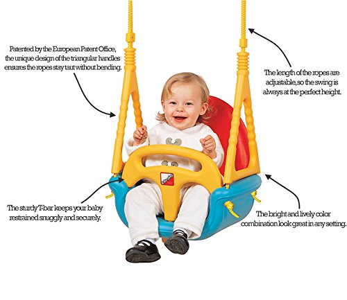 Amazon Com Edu Play Baby Outdoor Swing Seat 3 In 1 Perfect For