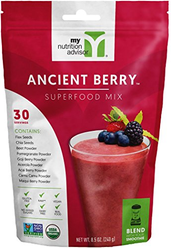 Ancient Berry Superfood Smoothie Mix (Powder) - 30 Servings | My Nutrition Advisor - Super Smoothie Mix