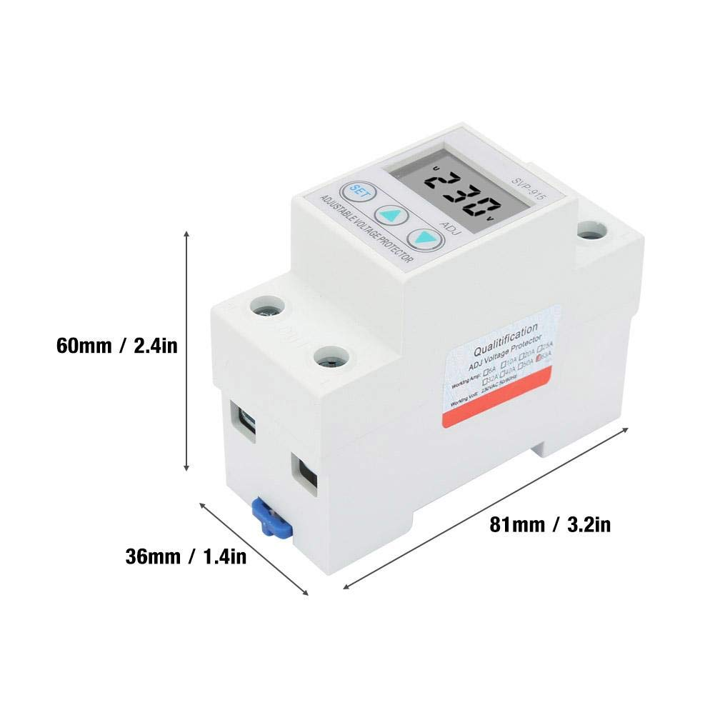 63A LCD Display Single Phase Adjustable Over-Voltage Under-Voltage Protector 230VAC Not A Pile of Garbage Really Good Quality Products