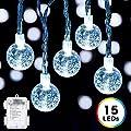 DecorNova Crystal Ball String Lights