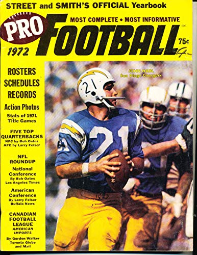 (1972 Street and Smith Pro Football John Hadl Chargers NFL7)
