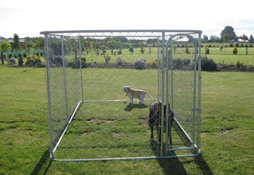 ALEKO Dog Kennel 13' x 7 1/2' x 6' DIY Box Kennel Chain L...