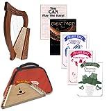 Homeschool Music Melody Harp & Baby Harp Bundle w/Mega Book Pack #2