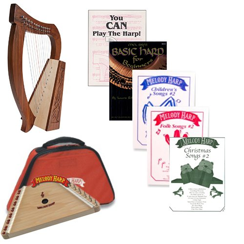 Homeschool Music Melody Harp & Baby Harp Bundle w/Mega Book Pack #2 by Homeschooling Harps
