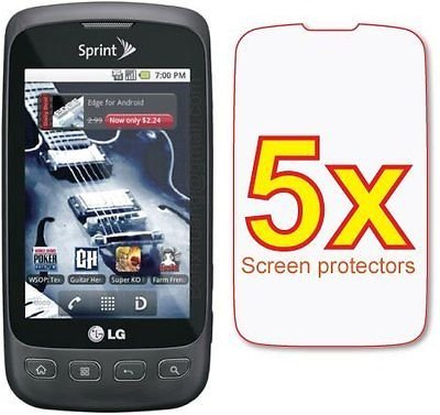 (5-pack Crystal Clear Screen Protector for LG Optimus S LS670)