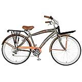 Hollandia M1 Land Cruiser Bike, 26 inch Wheels, 18 inch Frame, Men's Bike, Orange/Grey