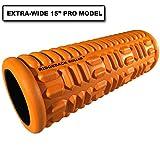 Platinum Fitness Ridgeback Foam Roller Pro for Trigger Points and Massage, 15', Orange