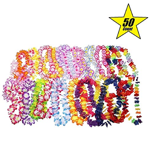 Oojami Jumbo Party Bag ~ Tropical Hawaiian Luau Lei Styles (50 ct) ~ Party -