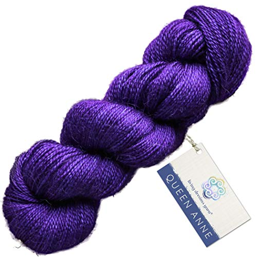 Living Dreams Queen Anne LACE Yarn. Luxuriously Soft Baby Alpaca Silk USA Hand Dyed. Royal Velvet