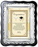 Congratulation Dental Medical Pharmacy Optometry School Graduation Gift or Congrats New Doctor Graduate Brush Silver Poetry Desk 8 x 10 Plaque Physician Nursing Student