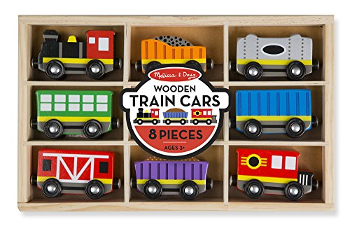 Melissa & Doug Wooden Train Cars & Pieces