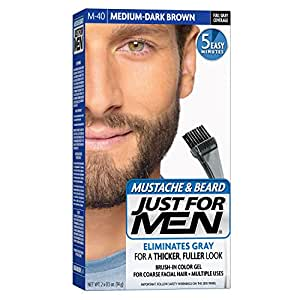 Amazon.com : Just For Men Mustache and Beard Brush-In Color Gel ...