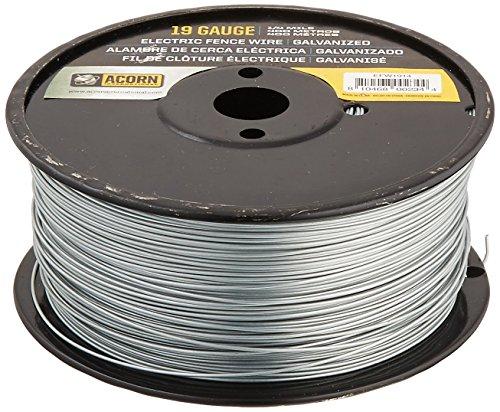 Acorn International EFW1914 1/4-Mile 19-Gauge Galvanized Fence Wire ()