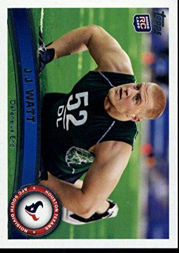 Football NFL 2011 Topps #331 J.J. Watt NM Near Mint RC Rookie Texans (Topps Set 2011 Nfl)