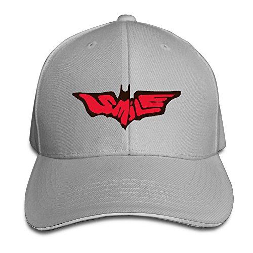 Fashion Super Joker Smile Bat Adjustable Custom Sandwich Caps Ash