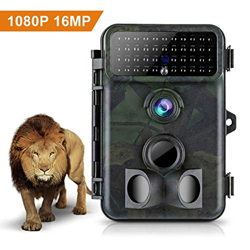 Tvird Trail Camera 16MP 1080P Wildlife Camera Super Night Vision Game Camera 125° Detecting Range and 66 FT Motion Activated with 2.4'' LCD Display IP66 Waterproof Protected Design by Tvird