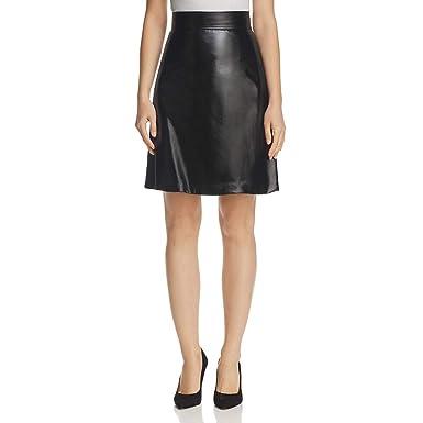 a47227b43 Amazon.com: Theory Womens Faux Leather High Waist Mini Skirt: Clothing