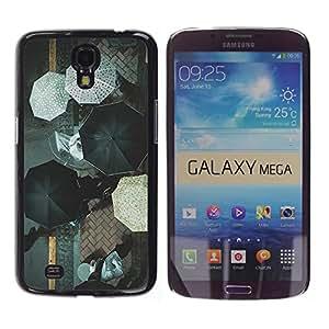 WonderWall Fondo De Pantalla Imagen Diseño Trasera Funda Carcasa Cover Skin Case Tapa Para Samsung Galaxy Mega 6.3 I9200 SGH-i527 - estampado de flores de naranja púrpura