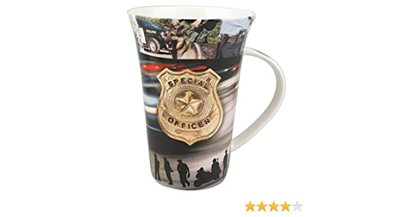 to Serve and Protect Mug in a Matching Gift Box 6 Tea Bags Bundle 2 Items SYNCHKG079036 Police Officer