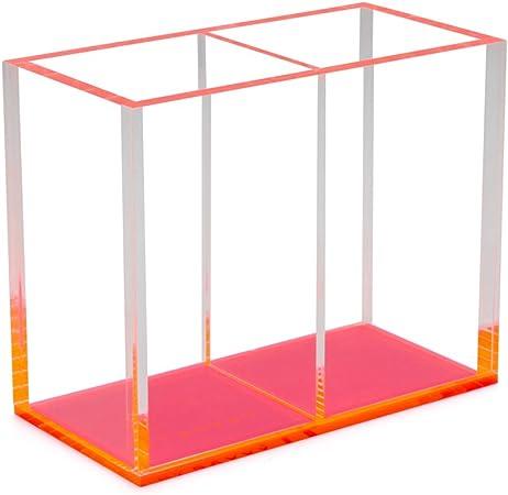 LUND LONDON Transparente Acrílico Bote para lápices, rosa con base ...