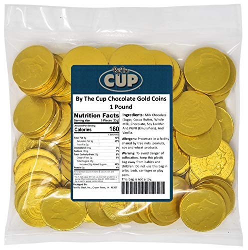 By The Cup Chocolate Gold Coins 1 Pound ()