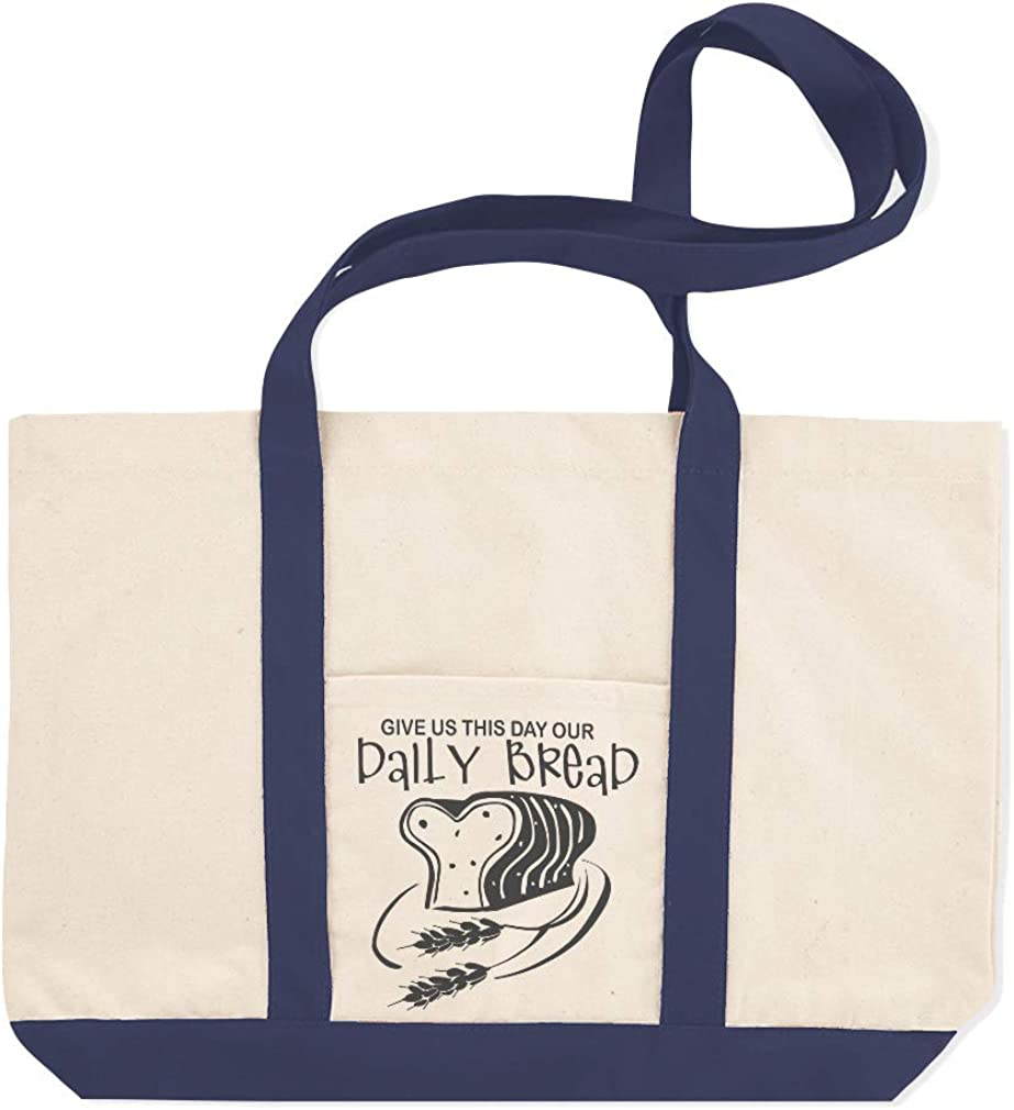 Canvas Shopping Tote Bag Give Us This Day out Daily Bread Inspiration /& Motivation Beach for Women