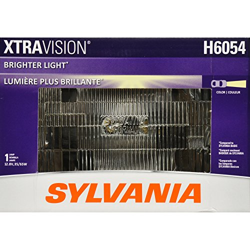 SYLVANIA H6054 XtraVision Halogen Sealed Beam Headlight 142x200, (Contains 1 Bulb)