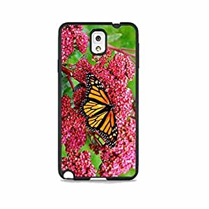 Butterfly Pink Flower Galaxy Note 3 Rubber Phone Case