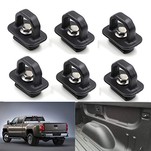 6pcs Tie Down Anchors Truck Bed Side Wall Anchor for 07-18 Chevy Silverdo GMC Sierra 2015-2018 Chevrolet Colorado Pickup DZ97903 ()